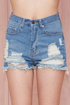 Summer Sky Cutoff Shorts $62.00