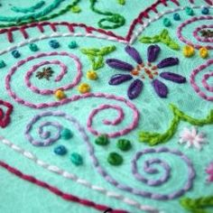 Pretty color combination on this #embroidery!