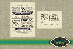 Rustic Keys PRINTABLE Wedding Invitation Set: W-008. $12.42, via Etsy seller Imagine That by Sam.