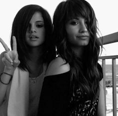 Image detail for -black and white stuff :: a pic of Selena Gomez and Demi Lovato picture ...