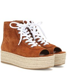 b8cdccee4d4 Miu Miu - Suede espadrille-style platform sneakers - Refresh your look for  the new
