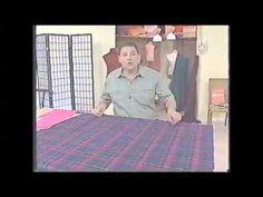 Puntos y Puntadas 176. Técnicas de Costura. Cómo ubicar los moldes una tela al bies. Hermenegildo. - YouTube