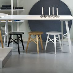 2 Perstorp Stools - Birch - by rge from Sweden #MONOQI
