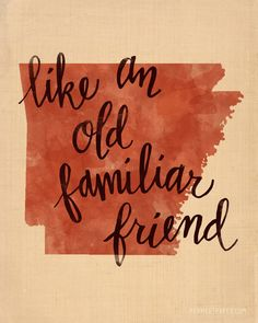 Arkansas print by penmeetpaper on Etsy, $16.00