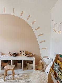Playroom Mural, Small Playroom, Playroom Design, Children Playroom, Playroom Flooring, Room Wall Painting, Kids Room Paint, Room Wall Colors, Playroom Paint Colors