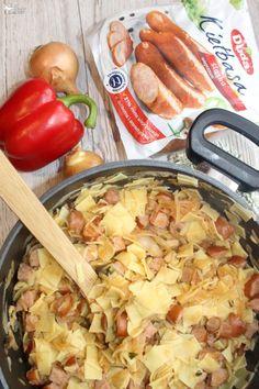 Obiadowe łazanki z paprykowo pomidorową nutą | Słodkie okruszki