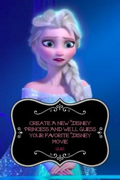With hundreds of fantastic Disney movies, it's hard to choose an absolute favorite! By designing your own Disney princess like no one has ever seen, you'll provide us with just enough clues to make our best-educated guess which film is your favorite. Quiz Disney, Film Disney, Disney Love, Disney Magic, Disney Art, Disney Pixar, Humour Disney, Disney Memes, Quotev Quizzes