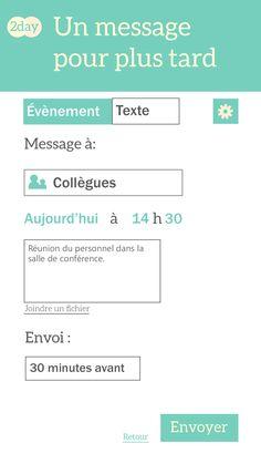 2Day - Application de messagerie planifiée - Amandine Vigna