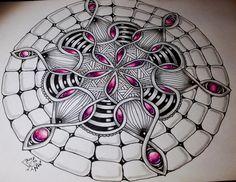 Manga Drawing Patterns My first Waybop ☺️ a difficult tangle but I like it! Mandala Doodle, Doodles Zentangles, Zen Doodle, Mandala Art, Doodle Art, Zantangle Art, Zen Art, Doodle Patterns, Zentangle Patterns