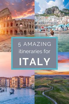 5 Amazing Italy Itinerary Ideas: If you have 10 days in Italy and are wondering where to go these itineraries are all incredible and will make planning your trip to Italy a breeze! babies flight hotel restaurant destinations ideas tips Cool Places To Visit, Places To Travel, Places To Go, Destinations D'europe, Family Holiday Destinations, 10 Days In Italy, Travel Photographie, Zona Colonial, Italy Travel Tips