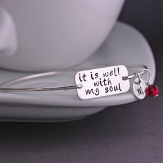 It is Well With My Soul Bangle Bracelet from georgie designs personalized jewelry