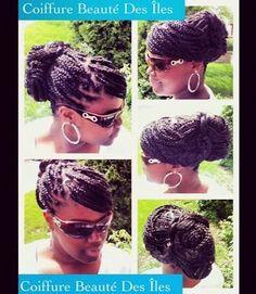 Box braids updo