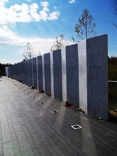 Flight 93 Memorial Stoystown, PA--a very touching tribute to the heroes who saved many lives. This is actually in Shanksville, close to Stoystown. Vacation Destinations, Vacation Spots, Flight 93 Memorial, 911 Tribute, Sandy Hook, Land Of The Free, World Trade, September 11, Blue Skies