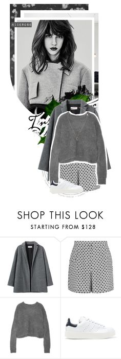 """""""Grå"""" by nicerose ❤ liked on Polyvore featuring Peace and Love by Calao, Organic by John Patrick, Reiss, 3.1 Phillip Lim, adidas Originals, Topshop, adidas, grey and philliplim"""