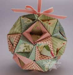 The Paper Pixie: DSP Kusudama Ball - Video Tutorial This is a bit scary to make, but her tutorial is FANTASTIC! The Paper Pixie: DSP Kusudama Ball - Video Tutorial This is a bit scary to make, but her tutorial is FANTASTIC! Christmas Origami, Christmas Paper, Christmas Projects, Holiday Crafts, Xmas, Christmas Holidays, Paper Ornaments, Handmade Ornaments, Christmas Tree Ornaments