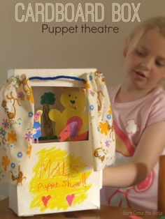 Cardboard box theatre - a fun craft for kids