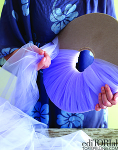How to make tulle balls tutorial