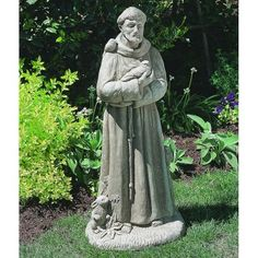 St Francis With Animals Garden Statue. Outdoor ...