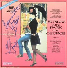 SUNDAY IN THE PARK WITH GEORGE MOVIE CAST - LASER MEDIA COVER SIGNED CO-SIGNED BY: BERNADETTE PETERS @ niftywarehouse.com #NiftyWarehouse #StarTrek #Trekkie #Geek #Nerd #Products