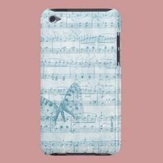 Butterfly Musical Romance Blue Ipod Touch Case