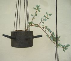 hanging flower pot with six horns | by karin eriksson