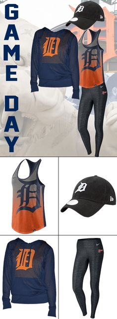 Game day baseball outfit for the Detroit Tigers. Detroit Tigers Apparel, Detroit Tigers Baseball, Tiger Clothing, Tigers Game, Real Women, Landscape Design, Cloths, Michigan, Casual Outfits