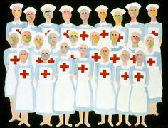 "Saatchi Online Artist lucille pack; Painting, ""WWII Nurses"" #art"