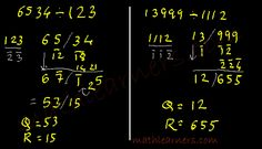 Shortcut Method to divide numbers when divisor is slightly greater than power of 10 using Paravartya Sutra of Vedic Mathematics