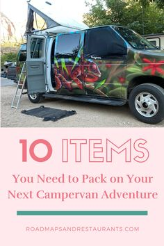 Interested in trying out a campervan for your next adventure but unsure of what it really entails or how to pack? Keep reading for a list of ten things that you need to add to your campervan packing list no matter where or when you are traveling. #roadmapsandrestaurants #vanlife Packing Tips, Travel Packing, Travel Backpack, Rv Travel, Outdoor Travel, Travel Advice, Travel Tips, Travel Ideas, Travel Songs