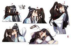 Wei is always cute Comic Anime, Me Anime, Anime Manga, Anime Guys, Anime Art, Sketch Inspiration, Light Novel, Fujoshi, Cute Love