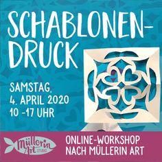 Mein erster Online-Workshop! – Müllerin Art Studio Workshop, Stamp, Studio, Tips, Brown Paper, Oilcloth, Vintage Maps, Old Newspaper, Wrapping