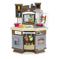 """The Cook 'n Learn Smart Kitchen has an engaging and unique play experience that kids will love! The kitchen has interactive accessories that come alive with the integrated App that is downloaded to your tablet with iOS7 and above or 4.3 or higher Android mobile device.<br>Kids will love how the kitchen """"magically"""" recognizes and interacts with some of the accessories. <br>"""