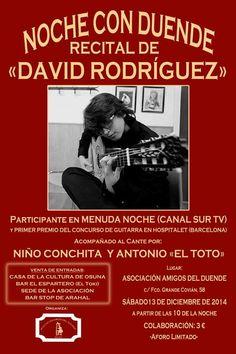RECITAL DE  DAVID RODRIGUEZ ROMERO. Fundación Guitarra Flamenca. www.fundacionguitarraflamenca.com