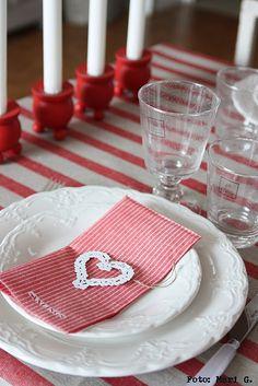 Swedish Christmas table setting