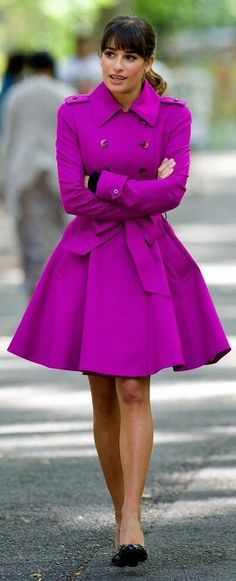Winter coat and love the color. When did designers decide that all we ever want for coats is black and grey. Why the possibilities are limitless to bring vibrancy and color into our cold weather wear!