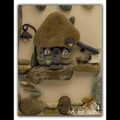 """2 kedvelés, 1 hozzászólás – A kő lelke - The soul of stone (@akolelkethesoulof) Instagram-hozzászólása: """"A tegnapi képemről a házikó :) #akőlelke #kavicsképek #papptimi #pt #pebbleart #stoneart…"""""""