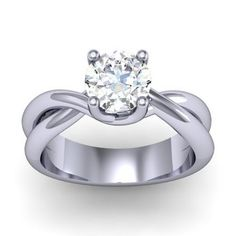 Simple twisted engagement ring!