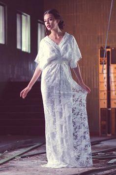 Lace kimono inspired wedding dress