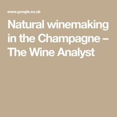 Natural winemaking in the Champagne – The Wine Analyst