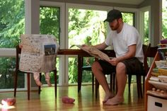 Morning Paper With Dad