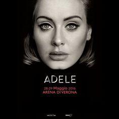 La cantante inglese Adele ha annunciato il tour 2016, saranno due le date italiane, il 28 e 29 maggio 2016 all'Arena di Verona @gardaconcierge