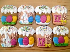 Fun Cupcakes, Birthday Cupcakes, Cupcake Cookies, Sugar Cookies, Kids Christmas Ornaments, Greek Easter, Cookie Decorating, Cupcakes Decorating, Cookie Frosting