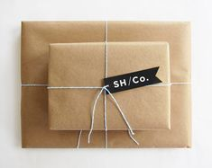 Classic little brown paper package