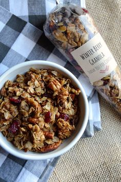 Winter Berry Granola. Brown sugar, spice, and dried berries come together to create this lovely winter granola recipe.