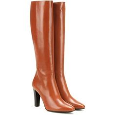 Saint Laurent Lily 95 Leather Knee-High Boots