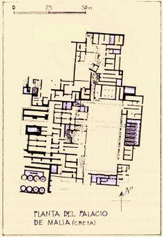 Plano del Palacio de Malia (Creta)