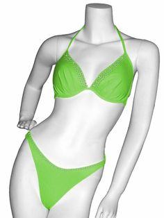 V-Neck Rhinestone Accent Two Piece Lady M Swimsuit Coco-RS|PageantDesigns.com