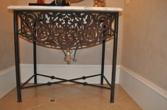 Architectural iron table base