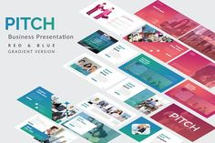 Pitch Business Keynote Template by Rits Studio on @creativemarket