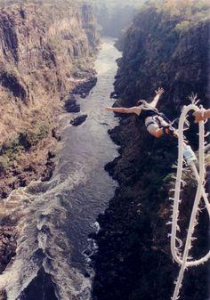 Bungee jumping royal gorge bride, Colorado